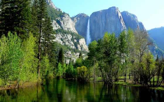yosemite, national, park, горы, сша, лес, река, sierra, природа,