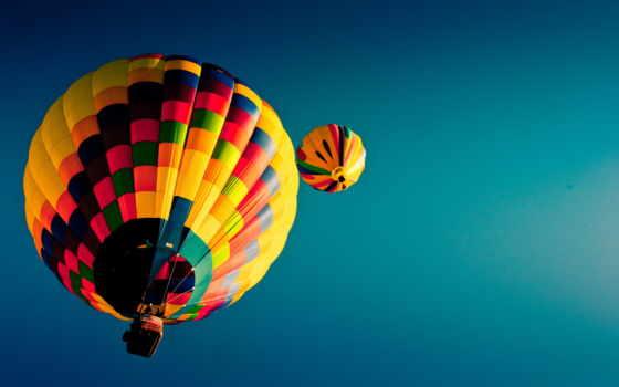 мяч, aerial, небо, воздушные, шары, спорт, картинка, воздушных, balloon,