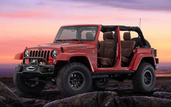 jeep, wrangler, rock, red, нояб, sema, внедорожник, concept,