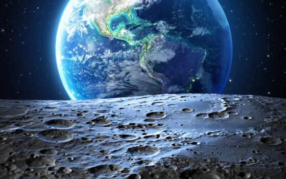 луна, космос, earth, star