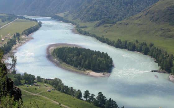 алтайский, край, река, остров