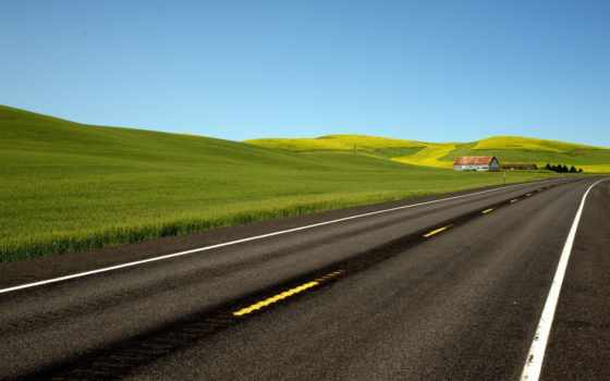 дорога, поле, холмы, почта, web, блог, пейзажи -,