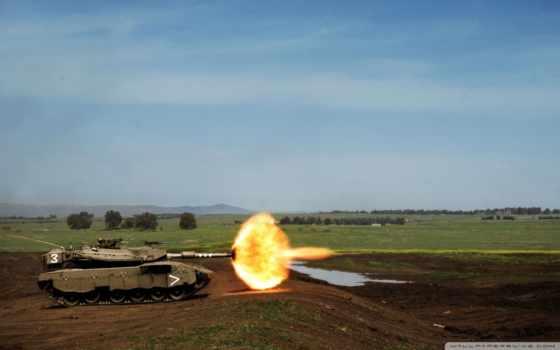 merkava, trophy, tanks, with, idf,
