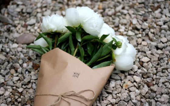 пионы, цветы, букет, гортензия,