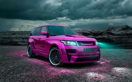 rover, range, vogue, hamann, land, розовый,