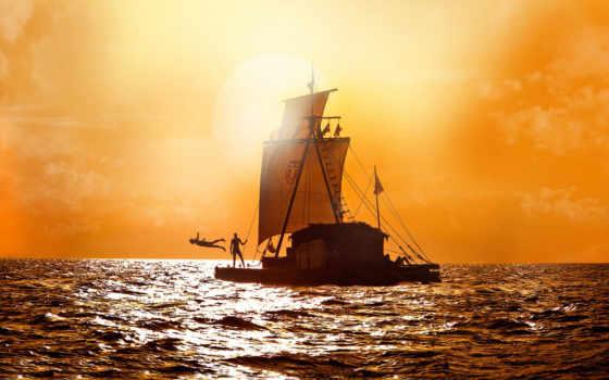 barco, сол, parede