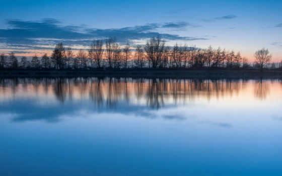 water, отражение, небо