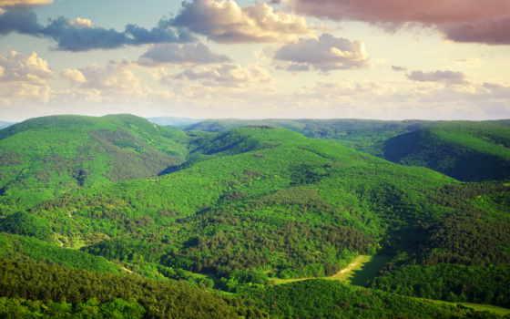 landscape, hills, природа, hill, небо,