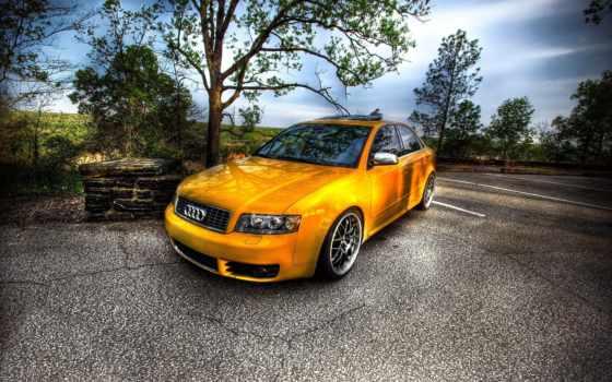машина, ауди, car, желтая, авто, машины, diy, hot, дороге,