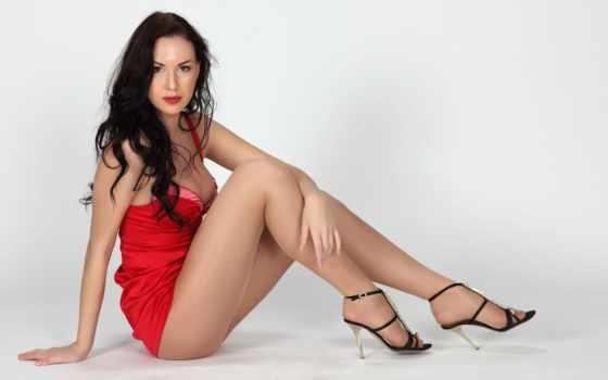 платье, девушка, красное Фон № 50419 разрешение 1920x1200