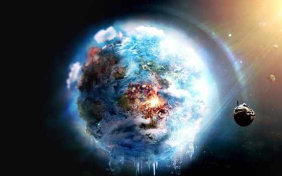 космос, land, планеты