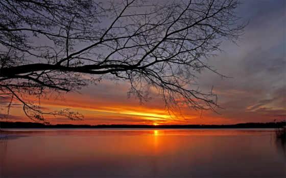 закат, landmarks, хочется, посещение, elements, ветви, горизонт, красавица, reservoir, которых,