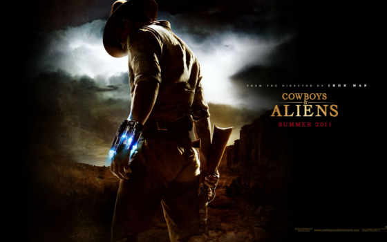 cowboys, aliens, parede