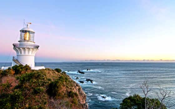 море, lighthouse, буря, point, кб, пейзажи -, природа, ocean, янв,