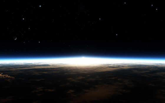 космос, planet, stars