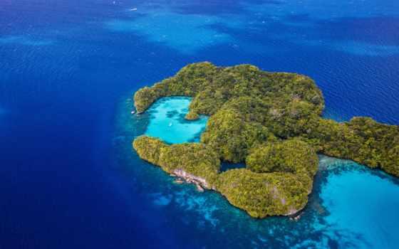 остров, острова, сверху, океане, card, ocean, море, взгляд, сердце, коллекции,