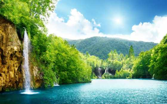 waterfall, nature Фон № 17370 разрешение 4550x2685
