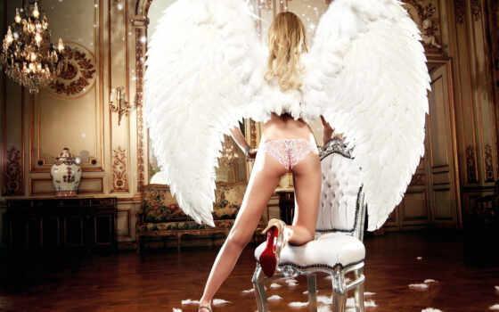 девушка, картинку, картинка, save, блондинка, модель, ножки, трусики, попка, ангел, крылья, выберите, кнопкой, правой, мыши, скачивания, elle, liberachi,