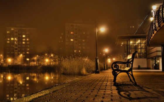 город, вечер Фон № 65036 разрешение 1152x864