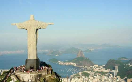 rio, janeiro, статуя, христа, спасителя, cristo, redentor,