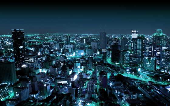 город, ночной, ночь, firestock, городе,