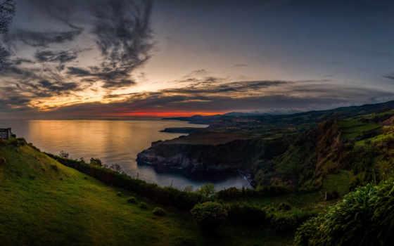 португалия, sintra, побережье, desktop, природа, перевернутый, башня,