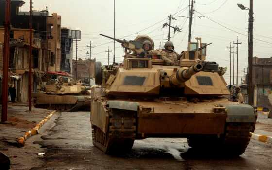 танк, iraqi, город, абрамс, abram, сша, американский
