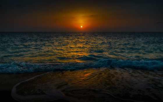 soleil, coucher, категория, resolution, природа, free,