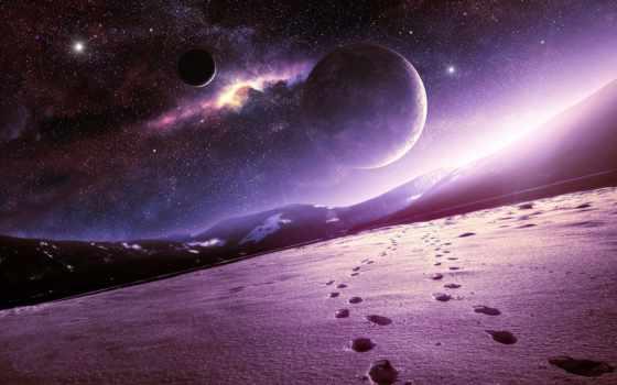 kosmos, планеты, горы