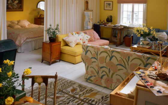 спальни, гостиной, комнаты, комнате, одной, зонирования, зонирование, design, спальню,
