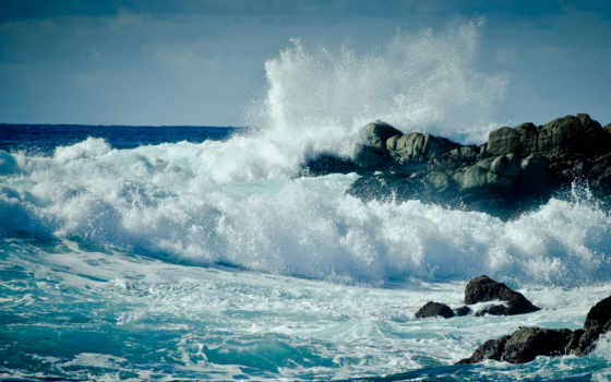 море, буря, water