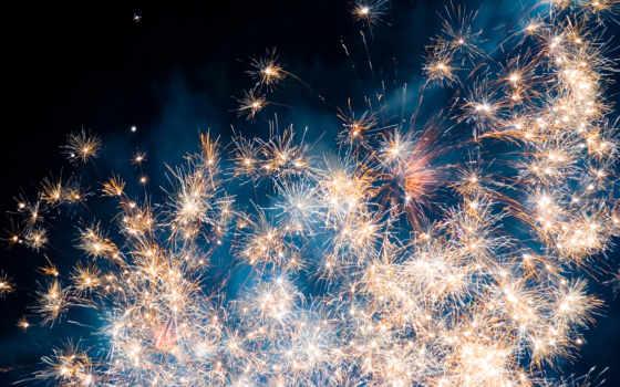 салют, new, fireworks, взгляд, год, грозный, чечня,