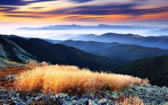горы, вид, панорама