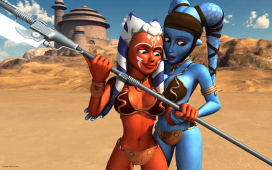 wars, star, ahsoka, clone, tano, aayla, secura, hot,