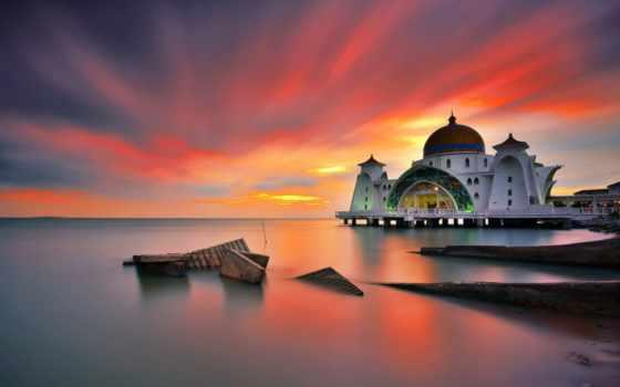 masjid, ди, terindah, dunia, twitter, mosque, selat, malaysia, berbagai, кота, images,