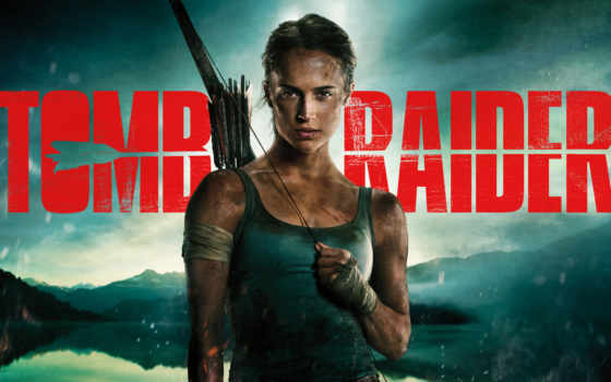 raider, tomb, плакат, movie, сниматься, лара, croft, vikander, alicia,