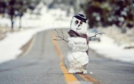 christmas, снеговик