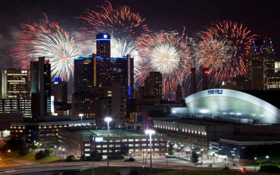 fireworks, ночь, singapore