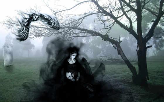фея, кладбище, robot