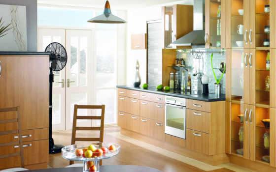 кухни, кухня, уютная, интерьера, современная, только, спальня,