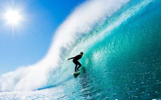 море, сёрфинг, волна