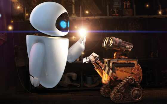 robot, стена, desktop