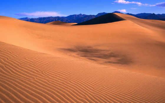 пустыня, небо, links, песок, горы, park, national,