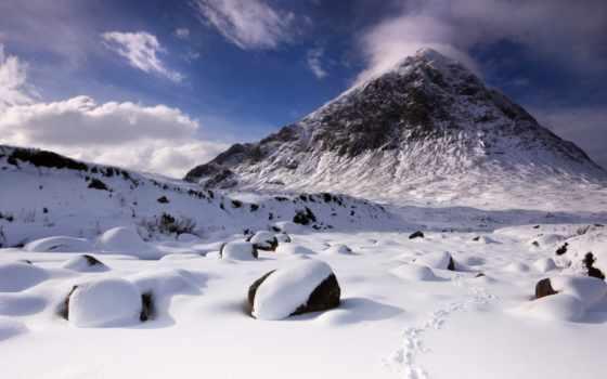 гора, snowy, снег, mountains, peak, mac, free,