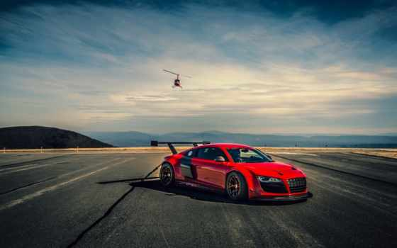 ауди, car, cars, вертолет, helicopters, red, supercars,