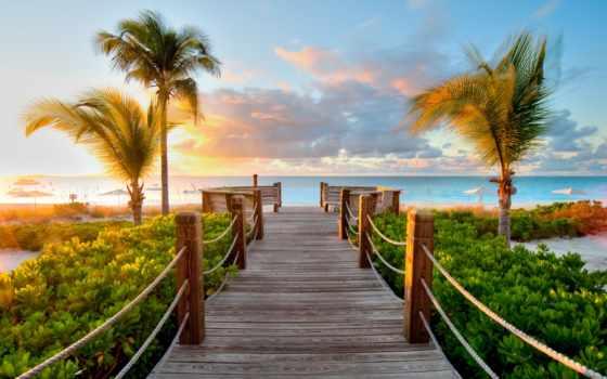 карибы, море, мост