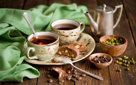 coffee, зерна, чашки