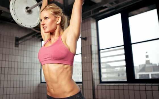 , девушка, штанга, тренировки, упражнение, люди, fat,