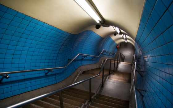 лампы, ступени, перила, тунель, stairways, tunnel, смотрите, architecture, файлом, part, minus, одним, экрана, traumerwalls,