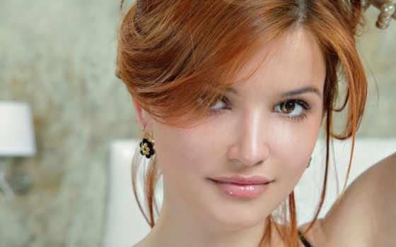 лицо девушки, рыжая девушка
